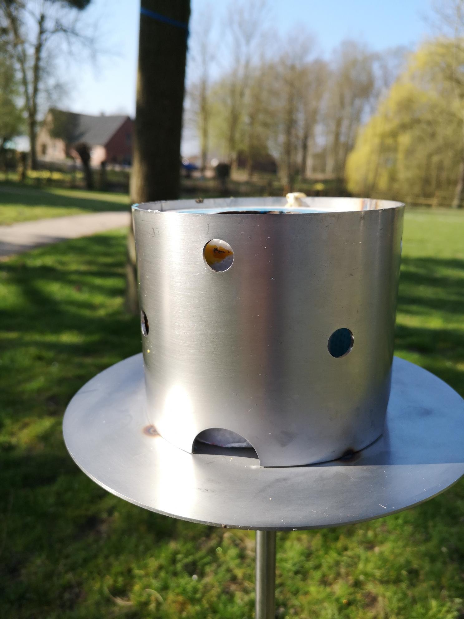 Gartenfackel aus Edelstahl (ohne Kerze)